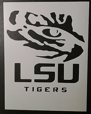 LSU Tigers Louisiana State Tiger Eye 8.5 x 11 Custom Stencil FAST FREE SHIPPING