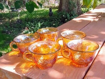 Vtg Carnival Glass Punch Cup lot of 5