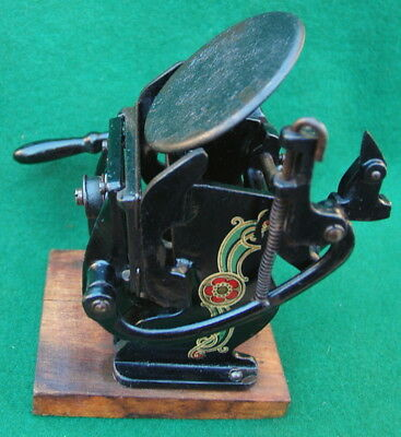 Vintage Small Cast Iron Printing Press for Business Cards, Letterhead c.1900's