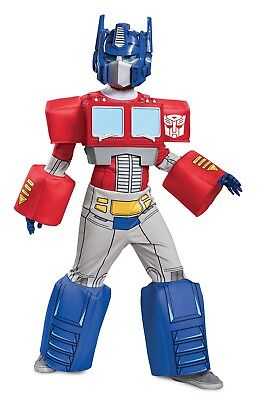 Deluxe Transformers Optimus Prime Small 4-6 Halloween Costume w/3D Chest Piece