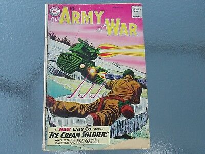 Vintage AUGUST 1959 OUR ARMY AT WAR NO. 85 COMIC BOOK - DC COMICS