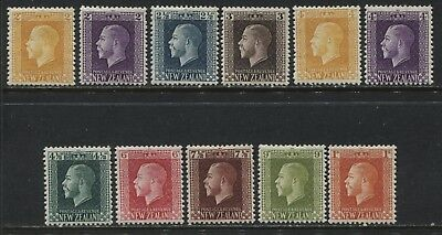 New Zealand KGV 1915-22 various values from 2d to 1/ mint o.g.