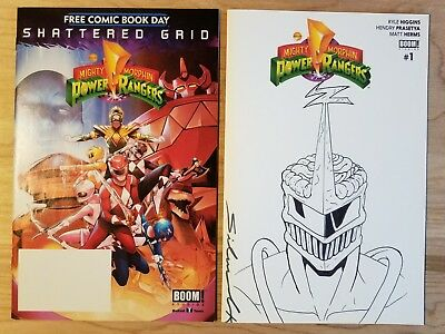 Power Rangers #1 Zord Zedd & Shattered Grid: One of a Kind Sketch 1st app Movie