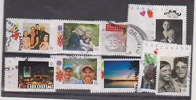 Canada Lot of 10 used Picture Postage Personalized stamps,