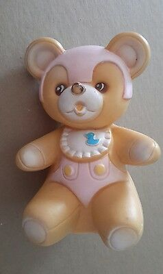 Vintage Rare Stahlwood New York Brown Bear Childs Squeaker Toy Made In Taiwan