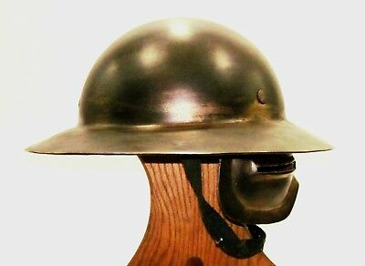 Experimental WWI doughboy Army helmet with face shield - Steampunk