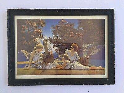 Vintage 1920's MAXFIELD PARRISH - THE LUTE PLAYERS The House Of Art NY Framed...