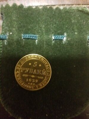 1839 5 rouble gold coin 6.7 grams decent condition