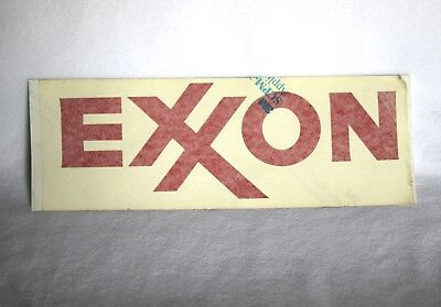 Vintage Exxon Gas Pump or Window Decal NOS