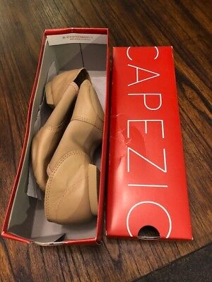 Kids Jazz Dance Shoes Capezio Leather Tan Sz 5.5