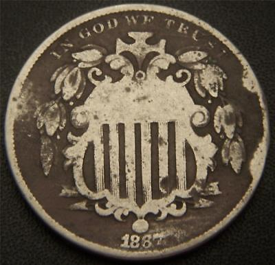 1867 Sheild Nickel No Rays Variety - All Major Details Are Distinctly Outlined