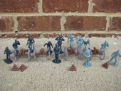 Civil War Artillery Toy Soldier Set Cannons Union Confederate Playset