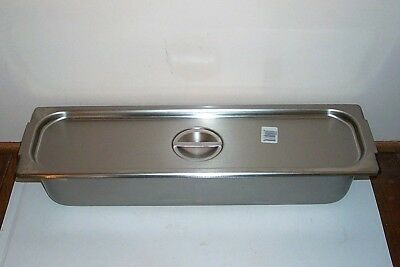 Usa Vollrath Stainless Steel 6Qt Steam Table Pan + Lid - Marinate, Barbecue +++