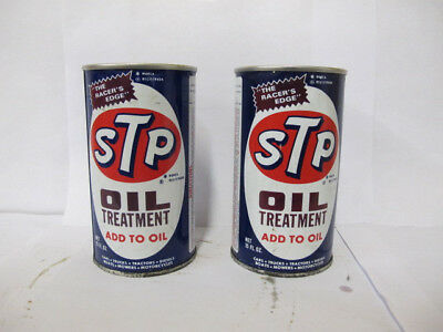 Vintage 1974 Full Stp Oil Treatment Cans-The Racer's Edge-15 Oz Can