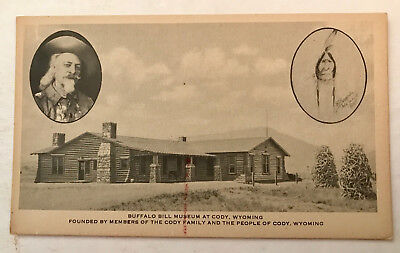 Vintage Buffalo Bill Museum, Cody Wyoming Postcard.  No Writing or Postmark