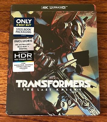 Transformers:The Last Knight (4K Ultra HD/Blu-ray/steelbook)Best Buy - Brand New