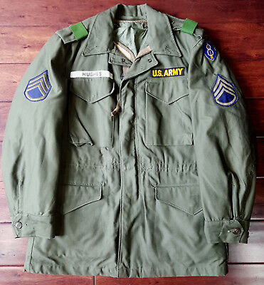 Mint US Army Korean War 1952 Dated M51, M65 Field Jacket with Liner, Small-Reg