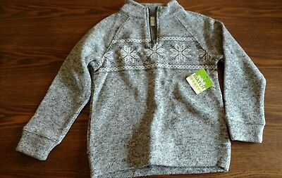 NEW Boys Size 4T Snowflake Gray Sweater  NWT