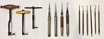VERY RARE COLLECTION of 13 ANTIQUE 19th Century DENTAL instruments Hard to Find
