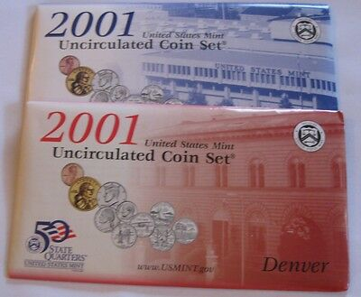 2001 P&D US Mint Set 20 Coin Lot ~ Original Envelope ~ Stock #5360