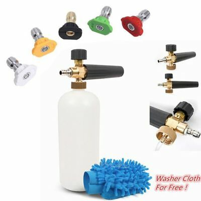 """Brass High Pressure Water Washer Gun Turbo Nozzles Spray Tips 1/4"""" Quick Connect"""