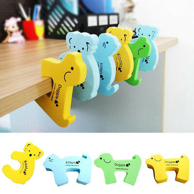 10X Children Baby Safety Cartoon Door Stopper Clip Clamp Pinch Hand Security kf