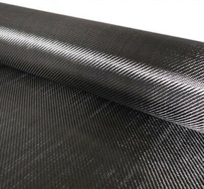 DIY Carbon Fiber Cloth Fabric Black 200g 50X200cm 3K Pack in Tube Package