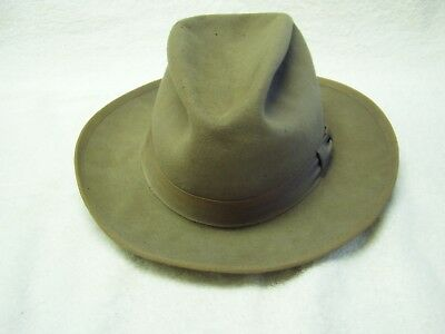 Vintage Huntleigh 1940s or 1950s Mens Fedora Hat