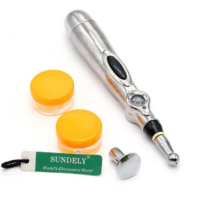 Therapy Pen Electronic Acupuncture Meridian Energy Heal Massage Pain Relief Uk