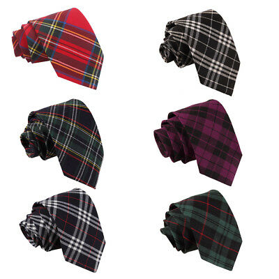 DQT Woven Tartan Plaid Formal Casual Necktie Wedding Classic Men's Tie