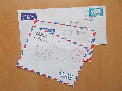 3 x New Hebrides Commercial Airmail Covers. See Pics for Info.