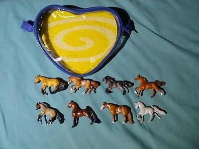 8 BREYER MINI WHINNIES HORSES 2005 with pouch