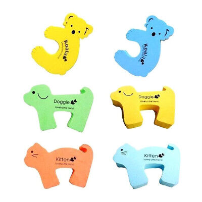 5/10pcs Children Baby Safe Cartoon Door Stopper Clip Clamp Pinch Hand Security Y