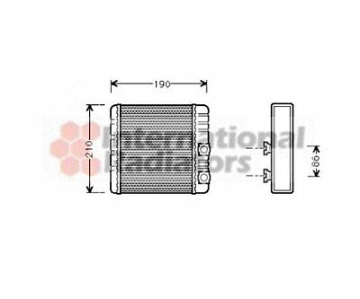 Bosch 06006211 Heat Exchanger, Interior Heating