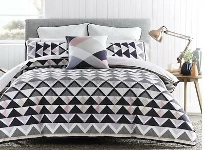 Morgan and Finch 'Harper' Quilted Doona Cover With Matching Pillow Cases.
