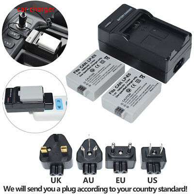 LP-E5 LPE5 1080mAH Battery / Charger Kits For Canon Rebel Xsi Xs T1i 450D 1000D