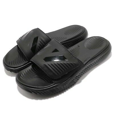 9527cab5d6c8e adidas AlphaBounce Slide Triple Black Men Sports Sandals Slippers B41720