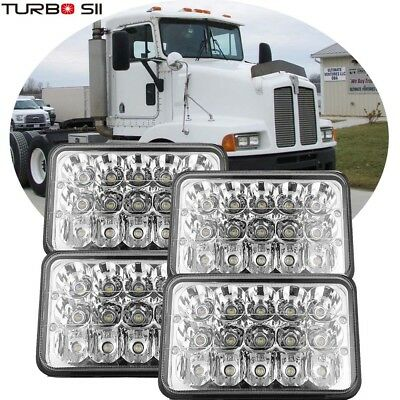 LED Headlights For Kenworth T400 T600 W900B W900L Classic 120/132 Bulb Lamp 4p