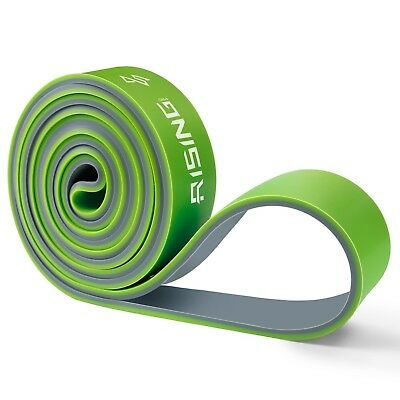 (Green) - 4UMOR Resistance Bands, Exercise Bands Two-Tone Pull Up Fitness