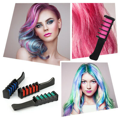 Temporary Hair Chalk Color Comb Dye Disposable Cosplay Party Hairs Dyeing Qk9T