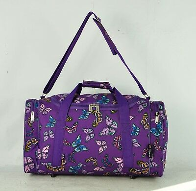 Purple butterfly travel/weekend/overnight/gym/hospital bag/holdall/duffle/bag