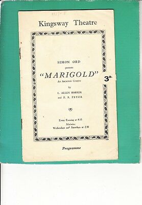 1927 Kingsway Theatre Programme -  JEAN CADELL - AGNES LOWSON - MARY BARTON