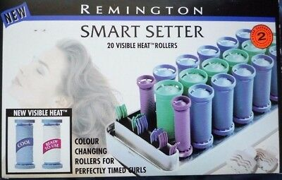 BNIB - Remington SMART SETTER 20 Heated Rollers Clips Pins Hair Styler Electric