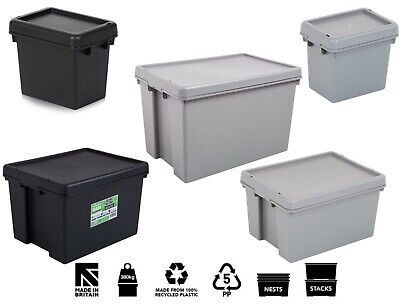 Wham Bam Heavy Duty Plastic Storage Box Boxes With Lids Recycled Plastic New