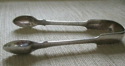 Antique Silver Plate Sugar Tongs Ai Stamp