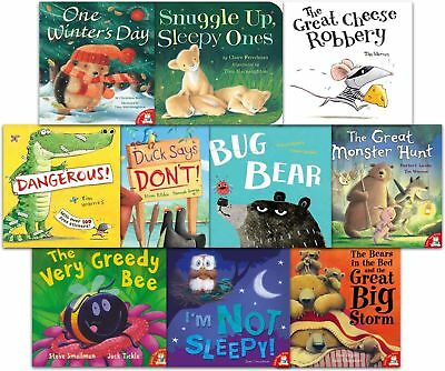 Little Tiger Press 10 Picture Book and CD Set, The Great Cheese Robbery, The Bea