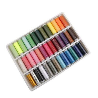 39pcs Spools Mixed Colors Polyester Sewing Quilting Threads Set Bobbins JA