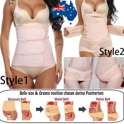 Postpartum Belly Wrap Support Recovery Belts Body Shapers C Section Shapewear AU