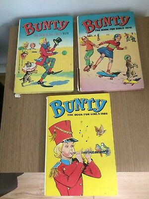 3 Bunty Annuals 1978, 1979 and 1980