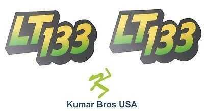 New Lower Hood Set of 2 Decals Replaces AM122875 Fits John Deere LT133